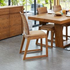Baumhaus Olten - Cappuccino Dining Chair in Oak Finish (Pack Of Two) Oak Dining Room, Oak Dining Chairs, Dining Room Furniture, Kitchen Dining, Home Furniture, Retro Furniture, Furniture Direct, Quality Furniture, Contemporary Dining Chairs