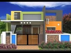 HOME DESIGNS - YouTube House Front Wall Design, House Balcony Design, House Outer Design, Single Floor House Design, Modern Small House Design, Village House Design, Bungalow House Design, House Design Photos, Floor Design