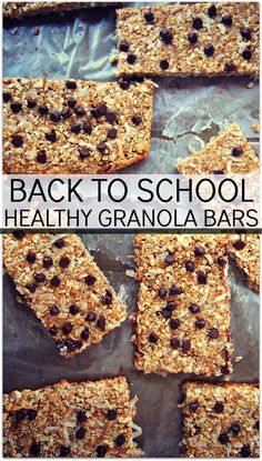 Back to School Granola Bars