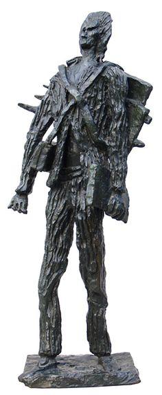 Ossip Zadkine - Projet du monument a van Gogh, Auvers-Sur-Oise - 1956 Осип Цадкин. Проект памятника Ван Гогу в Овер-сюр-Уаз. 1956 г.