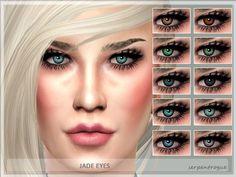 Jade Eyes by Serpentrogue at TSR via Sims 4 Updates
