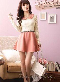Korean style dress. #Lace
