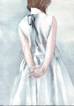 Party Dress #Watercolor #art