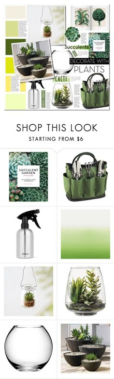 """Decorate with plants: succulents & cacti"" by alexispengu ❤ liked on Polyvore featuring interior, interiors, interior design, home, home decor, interior decorating, Chronicle Books, Picnic at Ascot, Seed Design and PERIGOT"