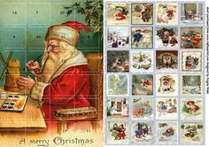 this is a vintage theme advent calender, open the numbers to reveal the lovely pictures, running up to Christmas