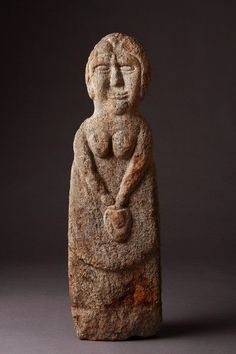 Ancient Northern British Celtic Gneiss Stone Female Figure of a Goddess (200 to 300 BC).