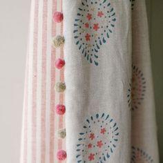 Linen - Malathi Salcombe Blue - 350 - Indian Summer - Fabric - Fabric & Interiors Susie Watson Designs