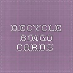 Recycle Bingo Cards