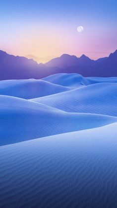 雪原と月 iPhone6 Plus壁紙 | WallpaperBox