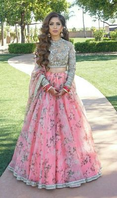Malta Exclusive Trendy Designer Bridal Lehenga - Source by - Indian Wedding Outfits, Bridal Outfits, Indian Outfits, Indian Engagement Outfit, Bridal Dresses, Floral Lehenga, Bridal Lehenga Choli, Wedding Lehnga, Pink Lehenga