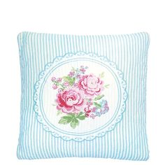 GreenGate Quilted Cushion Summer White Embroidered 40 x 40 cm   NEW! Spring/Summer 2014   Originated-Webshop