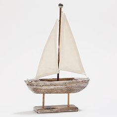 Bought this sailboat from World Market yesterday. So adorable! I will put it with my handmade driftwood boats.