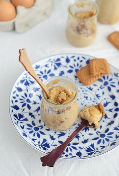 Natillas de galletas speculoos con plátano caramelizado