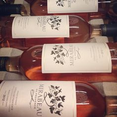 Our newest vintage and def best yet. Mirabeau Cotes de Provence rosé 2012. Yo