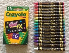 Jenny's Crayon Collection: Crayola Gel Markers and Gel FX crayons Nerd Crafts, Fun Crafts, Twistable Crayons, Cool School Supplies, Crayon Crafts, Colors And Emotions, Crayon Box, Cute Polymer Clay, Art For Kids