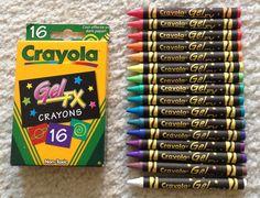 Jenny's Crayon Collection: Crayola Gel Markers and Gel FX crayons Marker Storage, Crayon Crafts, Cool School Supplies, Nerd Crafts, Crayon Box, Art For Kids, Kid Art, Gel Pens, Art Supplies
