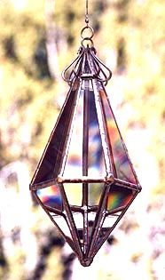 This Water Prism has fourteen facets to project many rainbows