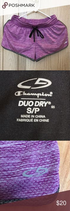 Champion Purple Workout Shorts Was a gift, never worn! Brand new. Duo Dry. Size: Small ♡ Champion Shorts