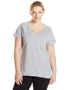 a6f0431acac Just My Size Women s Short-Sleeve X-Temp Pocket T-Shirt Plus Size