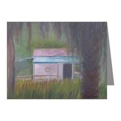 OLD FLORIDA BOATHOUSE Note Cards