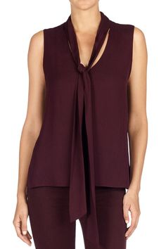 Mulberry Street | Hue of the Season: J BRAND Giovanna Blouse in Deep Mulberry.