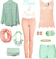 mint & peach!!! My fav spring colors!!!