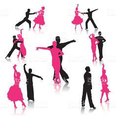 Dancing couples royalty-free stock vector art
