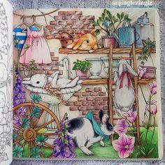 Happy bunnies day   From Menuet de Bonheur by @kanokoegusa. #kanokoegusa #幸せのメヌエット #Menuetdebonheur  #bayan_boyan #blvart #coloring_secrets #boracolorirtop #arte_e_colorir #coloredpencil #adultcoloringbook #arttherapy #prismacolor #coloringMasterpiece #wonderfulcoloring