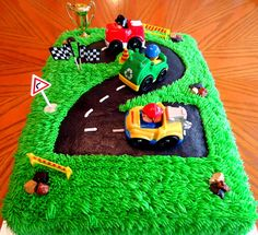 Number 2 Race Track Cake on Cake Central …<br> 2 Year Old Birthday Cake, Toddler Birthday Cakes, Race Car Birthday, Race Car Party, Cars Birthday Parties, 1st Boy Birthday, Birthday Cupcakes, Race Track Cake, Race Car Cakes
