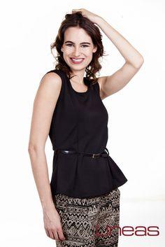 Pantalón, Modelo 18828. Precio $150 MXN Blusa, Modelo 18415. Precio $190 MXN #Lineas #outfit #moda #tendencias #2014 #ropa #prendas #estilo #primavera #outfit