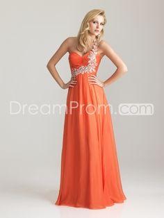 c0a63918b1 Chiffon Embellished One Shoulder Empire Waist Prom Dress  138.99 Prom Dress  2013