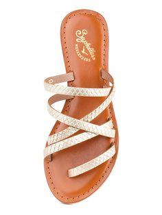 """Right Now"" sandal in gold - Seychelles Footwear"