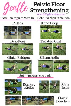 Gentle Pelvic Floor Strengthening This pelvic floor strengthening workout is idea for your postpartum body and recovery. An easy at home workout with no equipment you can do quickly while the baby naps. Post Baby Workout, Post Pregnancy Workout, Pregnancy Test, Pregnancy Calendar, Pregnancy Belly, Mommy Workout, Pregnancy Fitness, Easy At Home Workouts, Floor Workouts