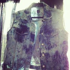 #DIY Bleach Dye Denim Vest
