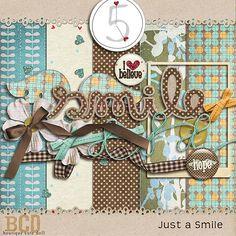 Today Only! Just a Smile mini kit freebie from Boutique Cute Dolls #digiscrap #scrapbooking #digifree #scrap #freebie #scrapbook