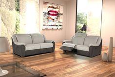 FLOODER - Salon bicolore de très grande classe, avec têtières relevables pour un confort optimal pour que vous vous sentiez à l'aise en toute occasion   Meubles Toff