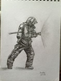 Firefighter Drawing, Firefighter Tools, Firefighter Paramedic, Firefighter Pictures, Volunteer Firefighter, Life Goes On Tattoo, Fireman Tattoo, Ems Humor, Fire Art