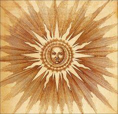 ☯☮ॐ American Hippie Psychedelic Art Sun Sun Moon Stars, Sun And Stars, Art Soleil, Arte Peculiar, Sun Art, Tarot, Taoism, Buddhism, Psychedelic Art