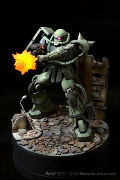 GUNDAM GUY: MG 1/100 MS-06 Zaku II - Diorama Build