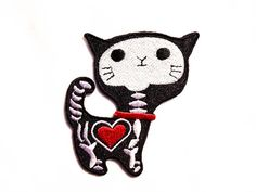 Hey, I found this really awesome Etsy listing at http://www.etsy.com/listing/123614246/cat-x-ray-iron-on-patch-cat-heart-cat