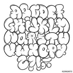Graffiti Lettering Alphabet, Graffiti Text, Graffiti Doodles, Graffiti Writing, Graffiti Tagging, Street Art Graffiti, Graffiti Artists, Cool Graffiti Fonts, Grafitti Letters