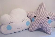 almofada-nuvem-e-estrela-cinza-chevron