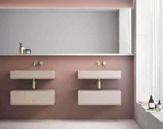 bathroom 2021 – Szukaj wGoogle Black Tile Bathrooms, Big Bathrooms, Amazing Bathrooms, Modern Bathroom, Yellow Tile, Black Tiles, Burgundy Walls, Period Living, Brass Tap
