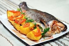 chudnutie rýb Trout, Fish Recipes, Mixer, Oven, Food And Drink, Turkey, Chicken, Cooking, Health