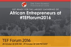 TONY ELUMELU FOUNDATION FORUM KICKS OFF BUT YOU CAN WATCH IT LIVE   The TONY ELUMELU FOUNDATION Forum is a two-day event in Nigeria with interactive learning sessions workshops plenary sessions product launches and more. It is the arguablythe largest annual gathering of African entrepreneurs from 54 African countries.  The $100 million Entrepreneurship Programme is the flagship entrepreneurship program of the Tony Elumelu Foundation founded by visionary entrepreneur and philanthropist Tony…