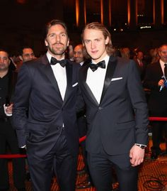 Hank and Hagelin at the New York Rangers Casino Night Hot Hockey Players, Ice Hockey, Perfect People, Beautiful People, Casual Clothes, Casual Outfits, Carl Hagelin, Rangers Hockey, Marc Andre