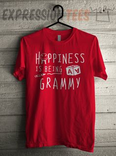 Men's Happiness is Being A Grammy Shirt Unisex Adult Mothers Day T-Shirt #1384 by Expression Tees Trending Clothing / Apparel USA Seller