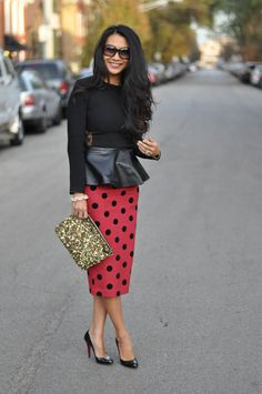 Red Soles and Red Wine - Chicago Fashion Style Blog: Ladybug Leather  I see putting a leopard print with this...