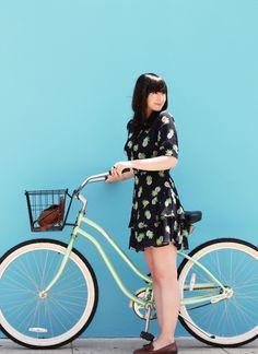 Travel on wheels. #bike #chic