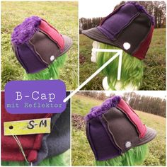 B-Cap triColor Himbeere/grau/violett, Größe S-M Unisex, Messenger Bag, Upcycle, Third, Recycling, Satchel, Bags, Design, Raspberry